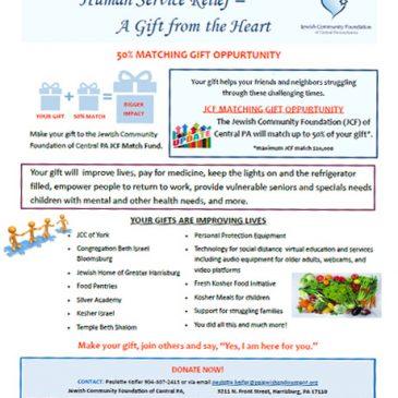 Jewish Community Foundation 50 Match Community Impact  JCF