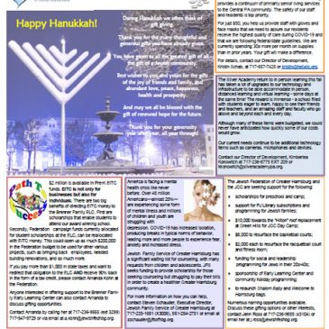 Hanukkah Year-End Wish List Gifting to our Jewish Community
