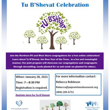 Join Us for a FREE Tu-B'Shevat Celebration